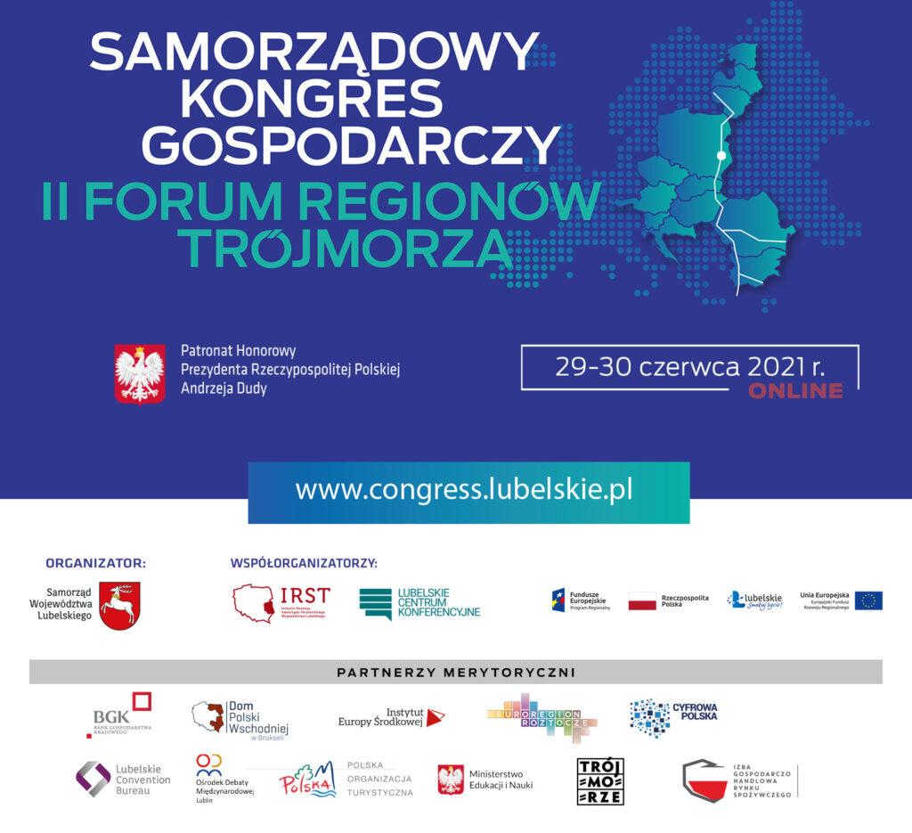 Zaproszenie na Samorządowy Kongres Gospodarczy II Forum Regionów Trójmorza!