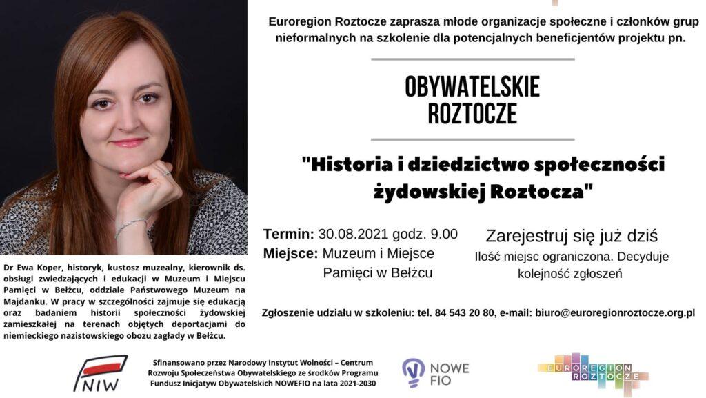 Historia i dziedzictwo społeczności żydowskiej Roztocza!