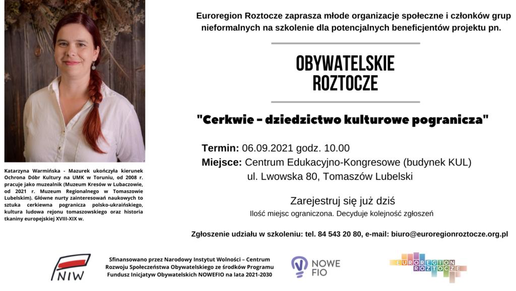 """""""Cerkwie – dziedzictwo kulturowe pogranicza""""!"""